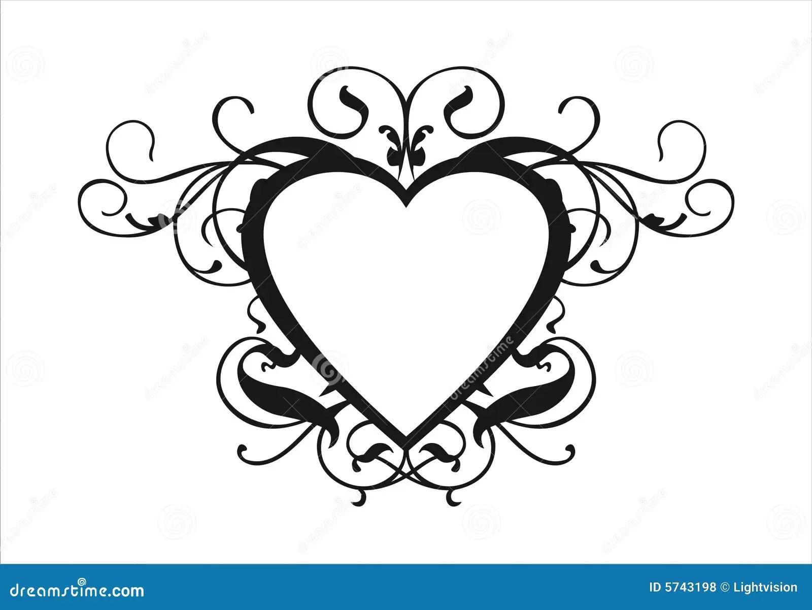 Heart Scroll Stock Vector Illustration Of Logo Design