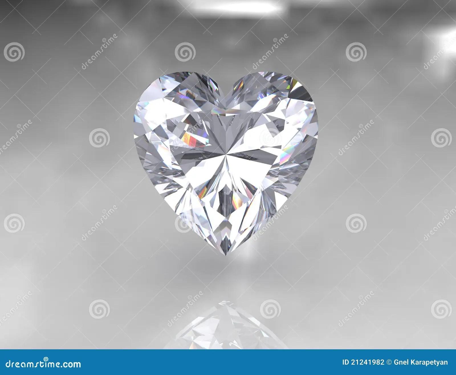 Heart Shape Brilliant White Diamond Stone Stock