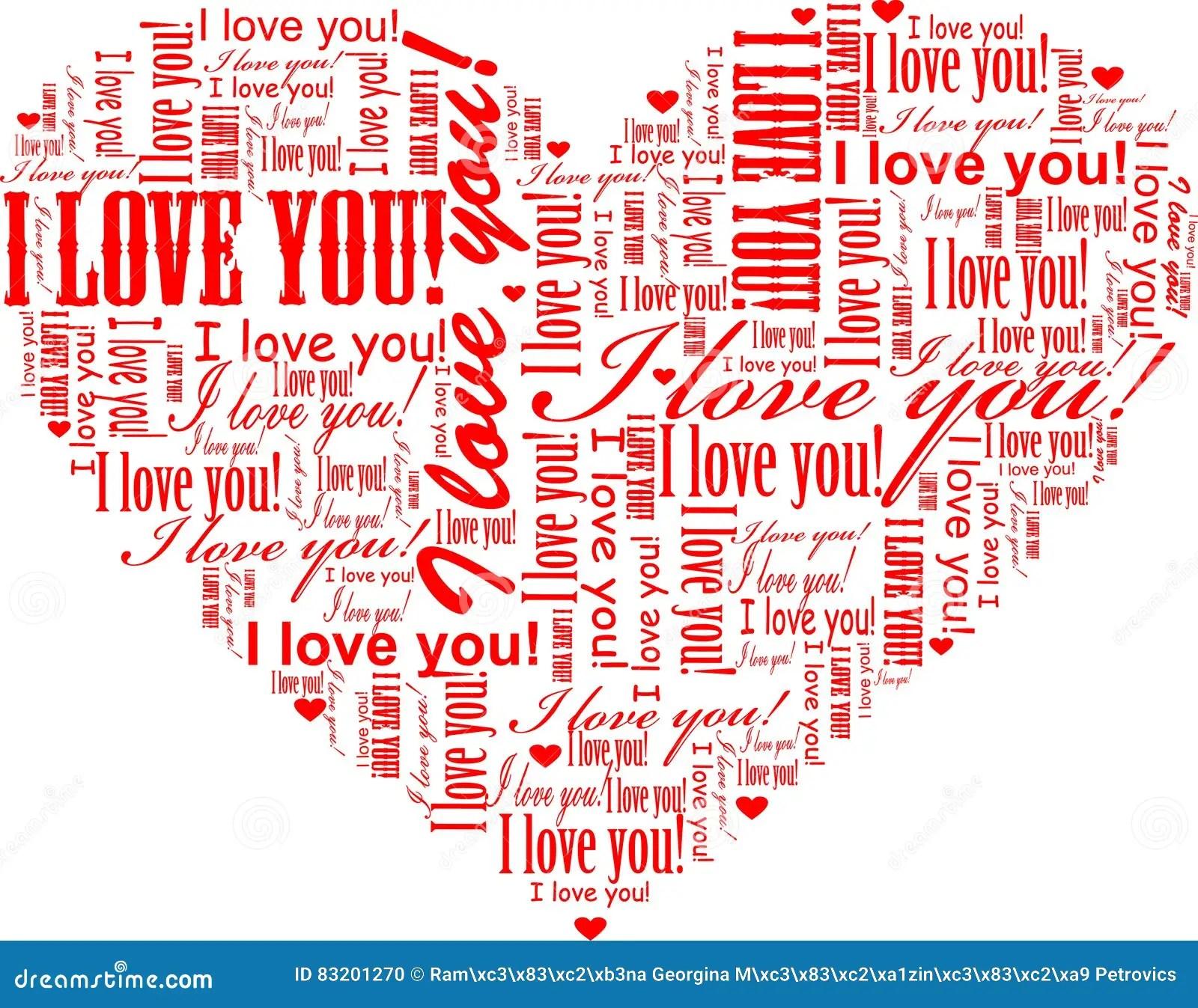 heart shaped i love