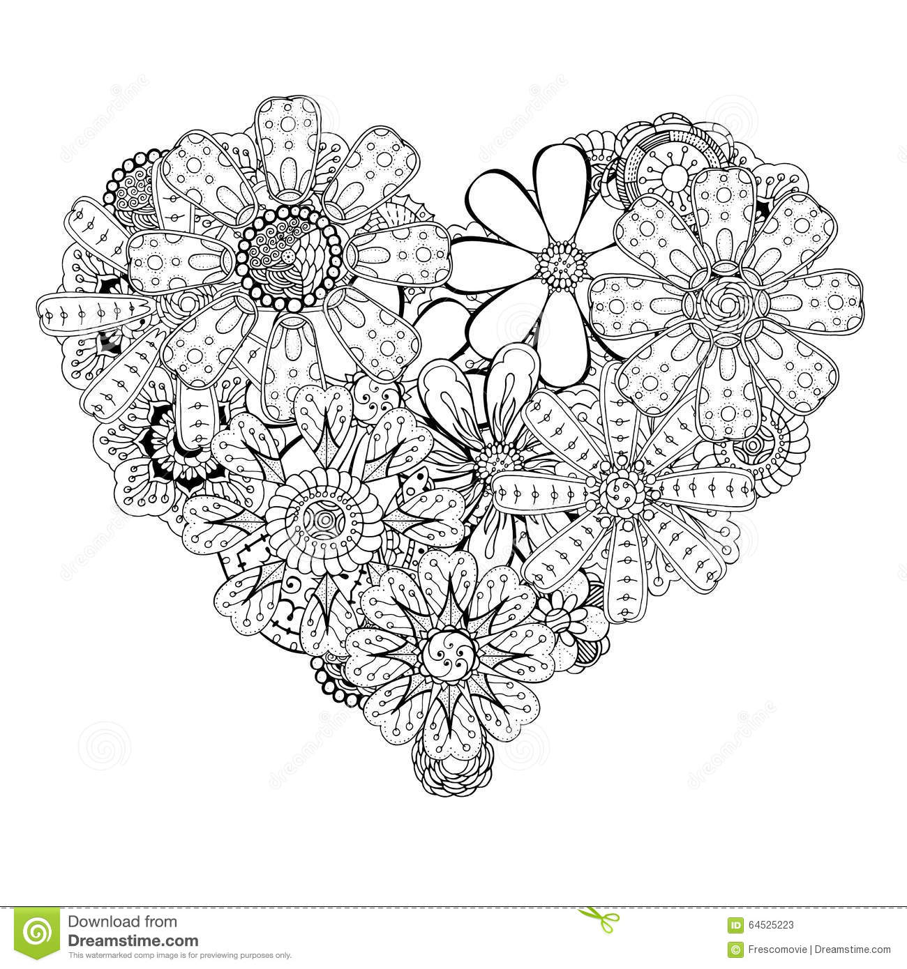 Heart Shaped Pattern Stock Vector Image Of Drawn Asia