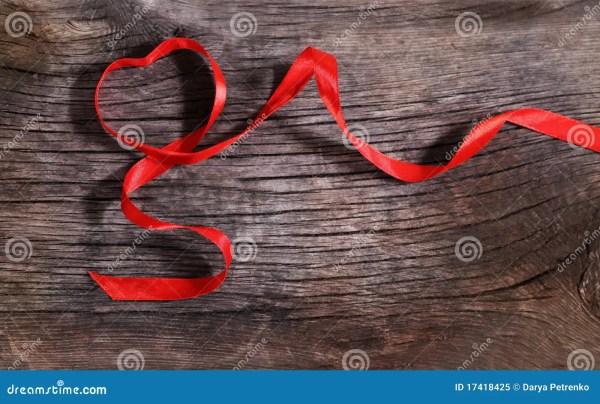 Heart Shaped Red Ribbon Royalty Free Stock