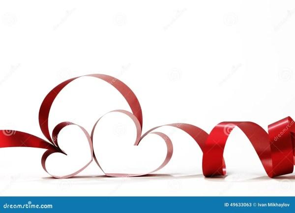 Heart Shaped Ribbon Stock Of Decoration