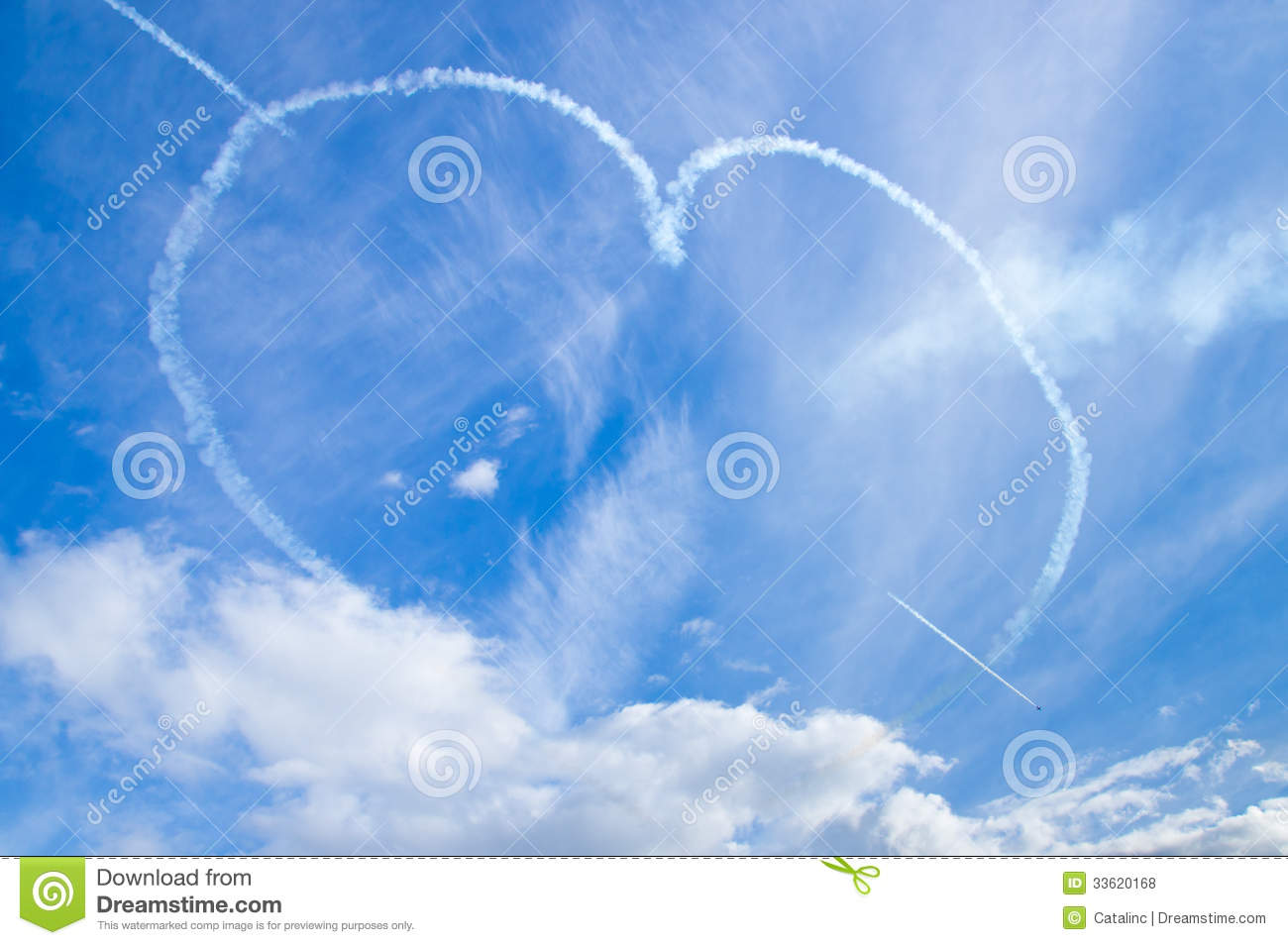 Heart in the skys editorial stock photo Image of skill  33620168