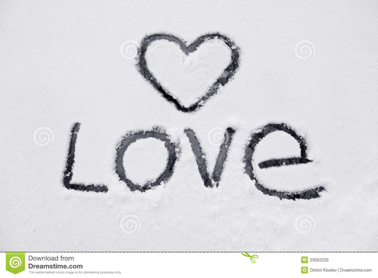The Heart And The Word Of Love Stock Photo Image 23562220