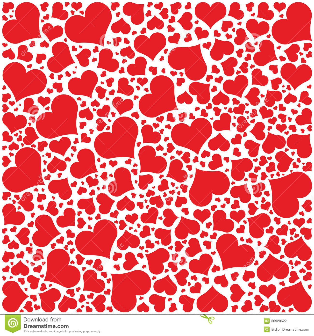 Hearts Pattern Happy Valentines Day Stock Vector