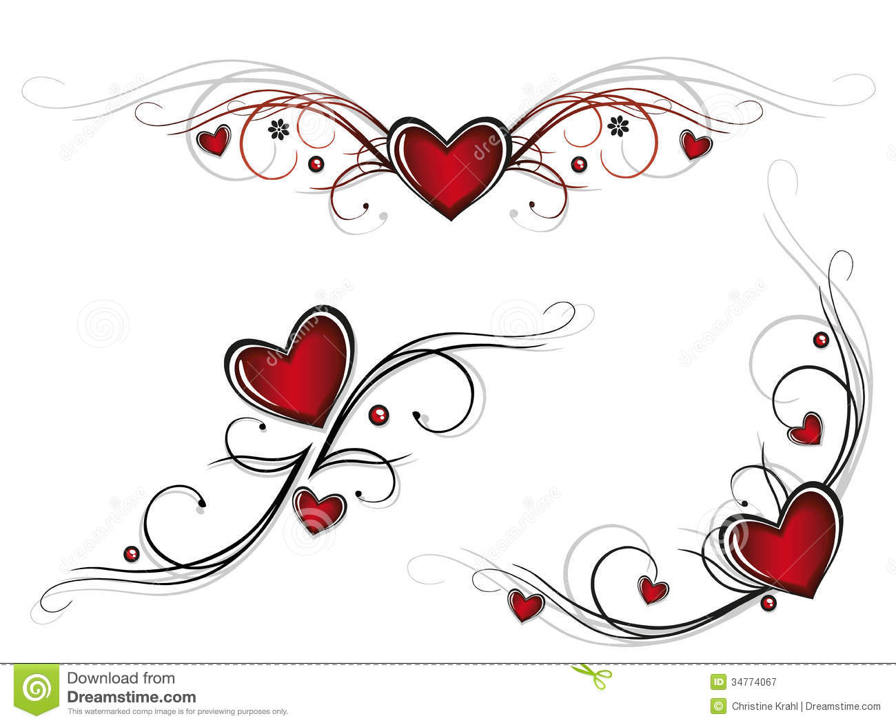 Hearts tribals stock image Image of love friendship