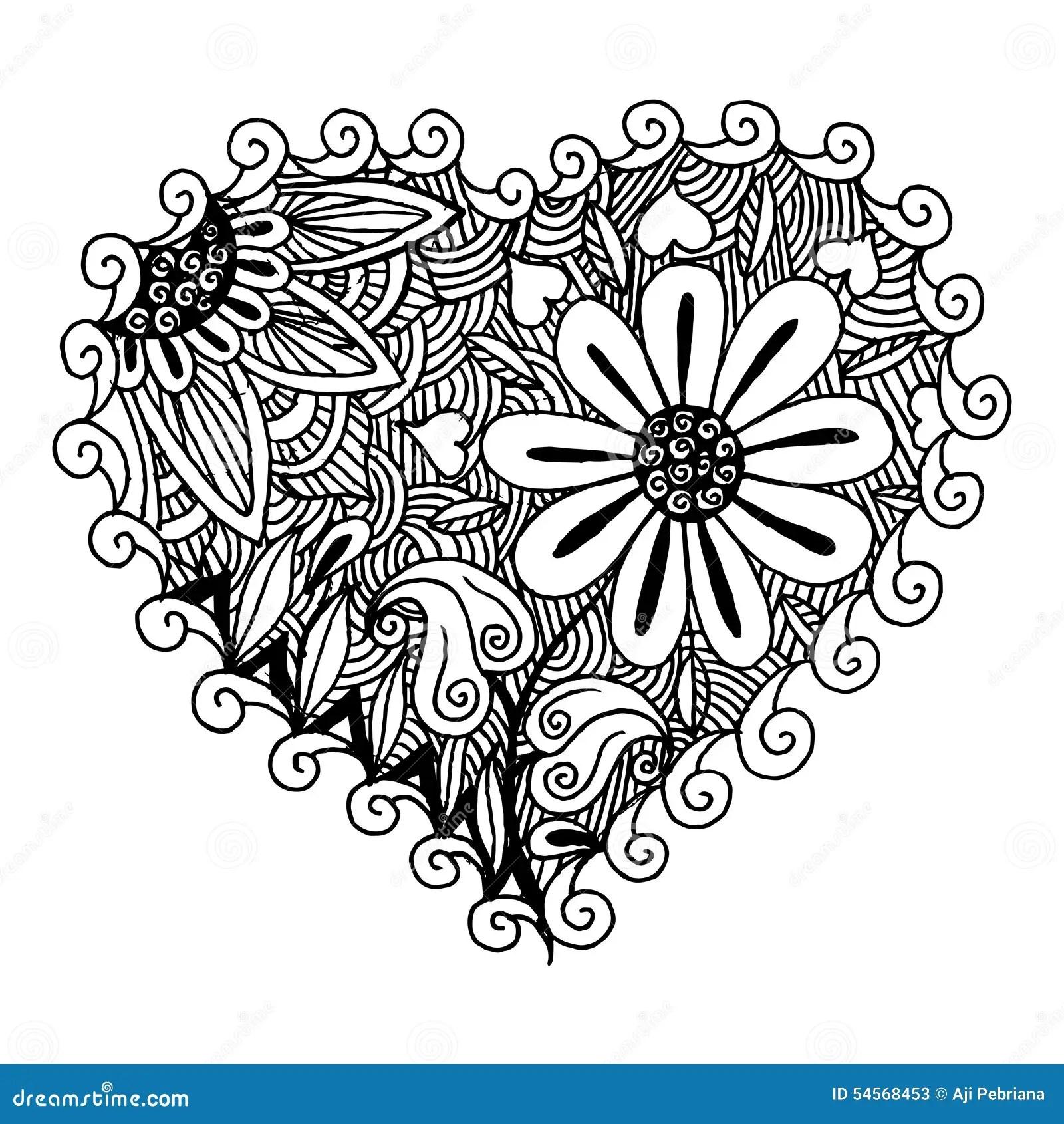 Hearts Zentangle stock vector. Illustration of texture