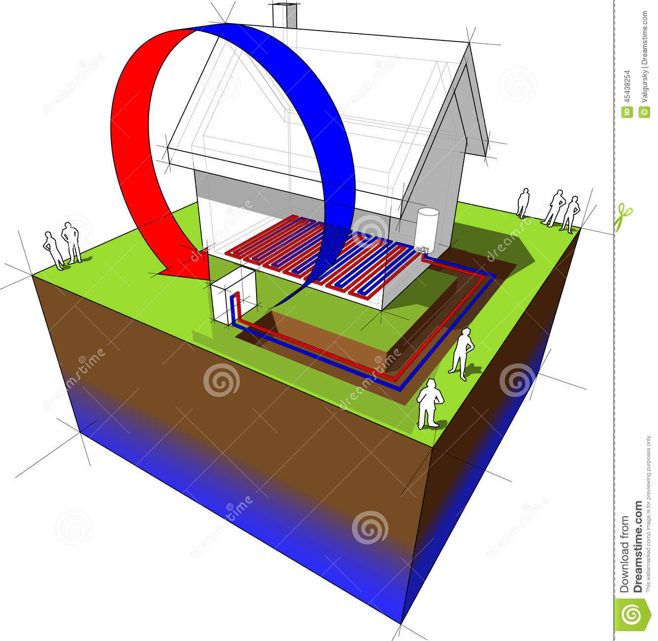 hight resolution of air source heat pump diagram air source heat pump combined with underfloor heating low temperature heating system another house diagram from the