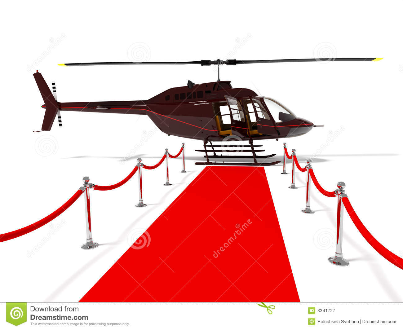 Helicopter For Very Important Person Stock Illustration