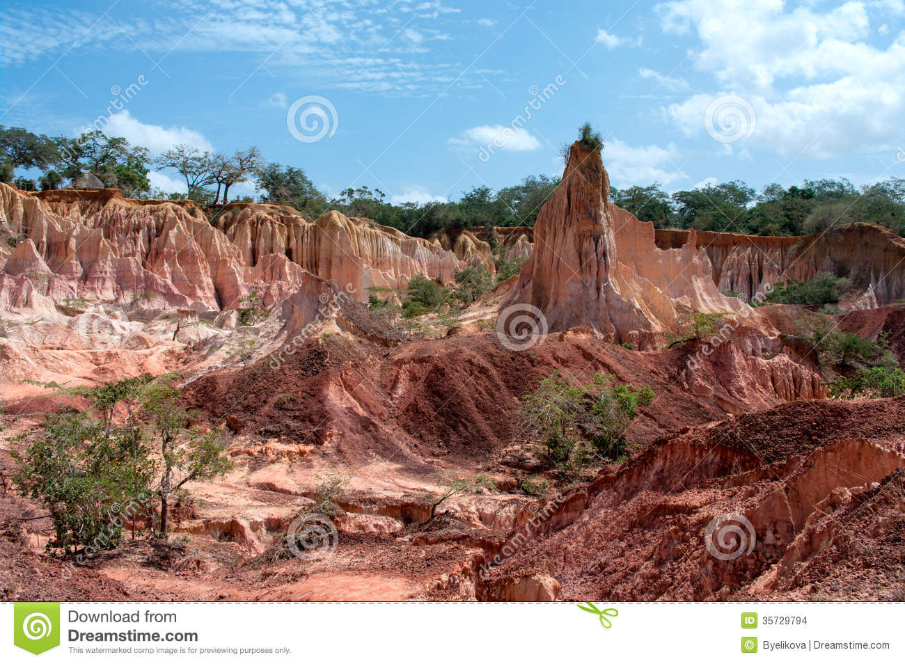 The Hells Kitchen Marafa Canyon Kenya Stock Photo