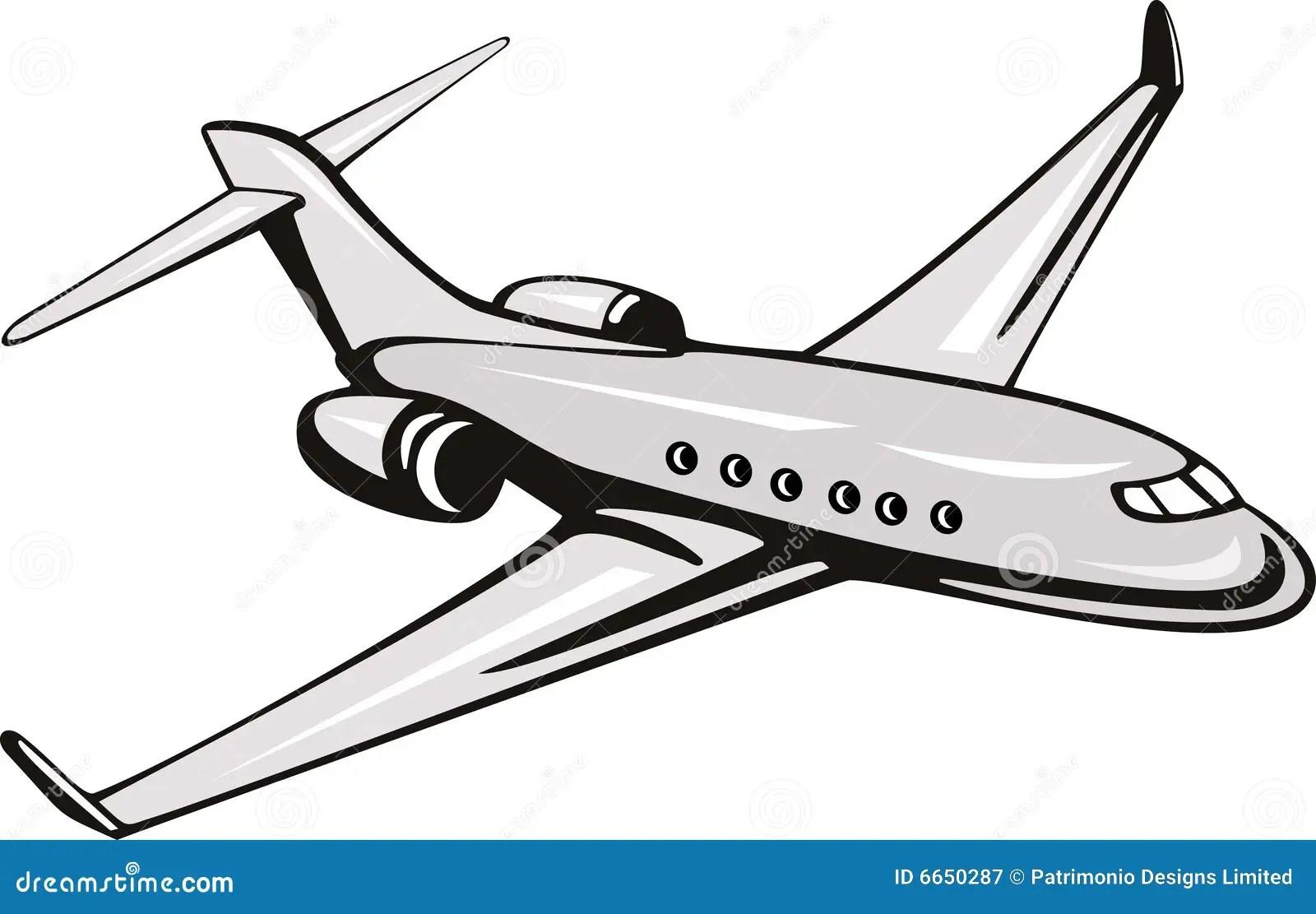 Helles Handelsflugzeug Stock Abbildung Illustration Von