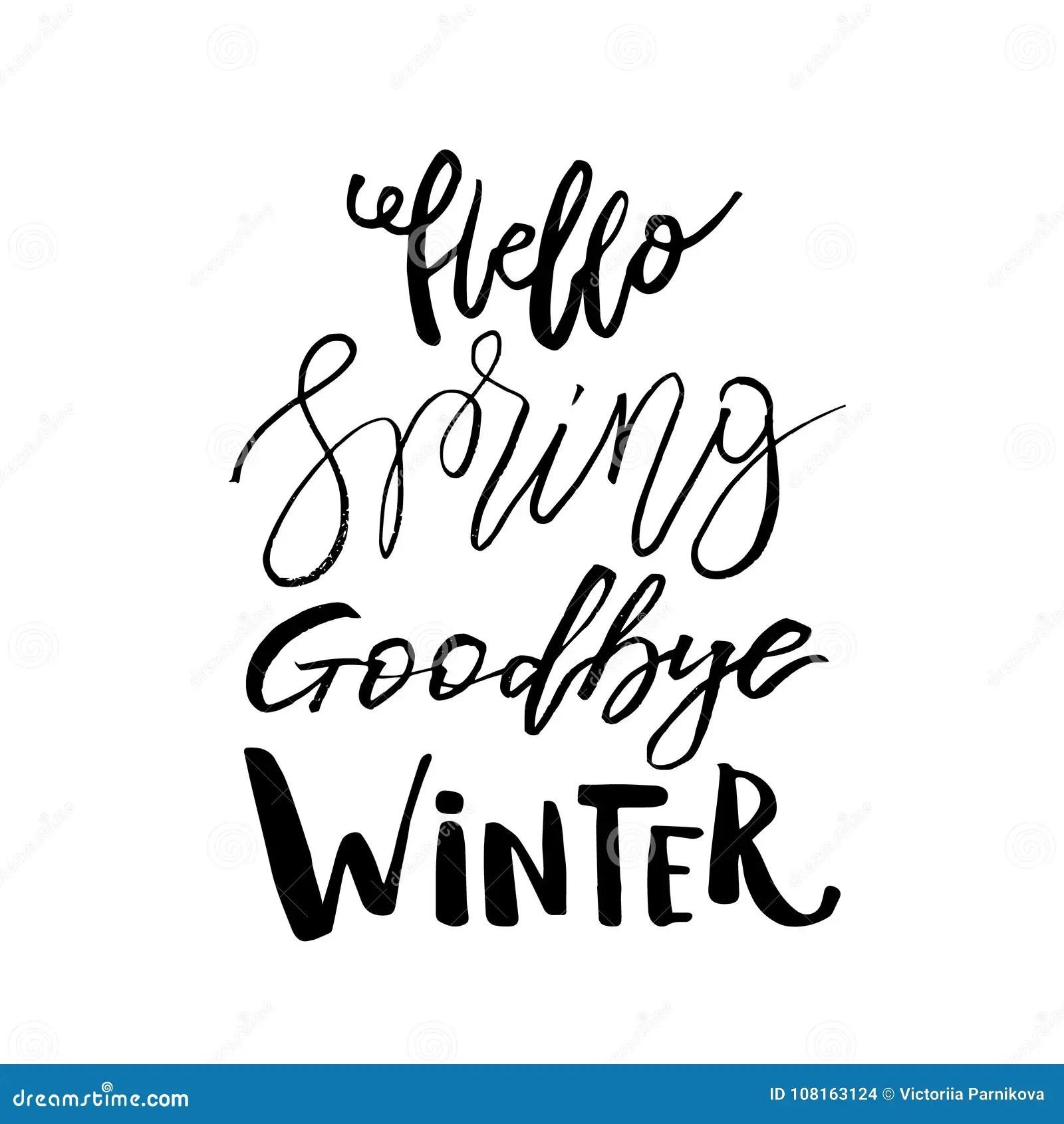 Goodbye Winter Stock Illustrations 117 Goodbye Winter