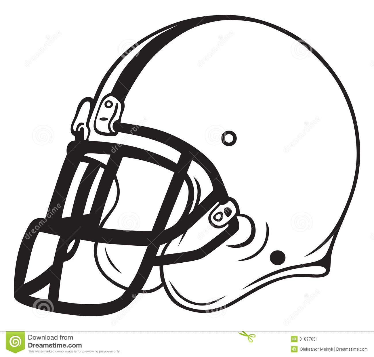 Helmet Football Stock Image