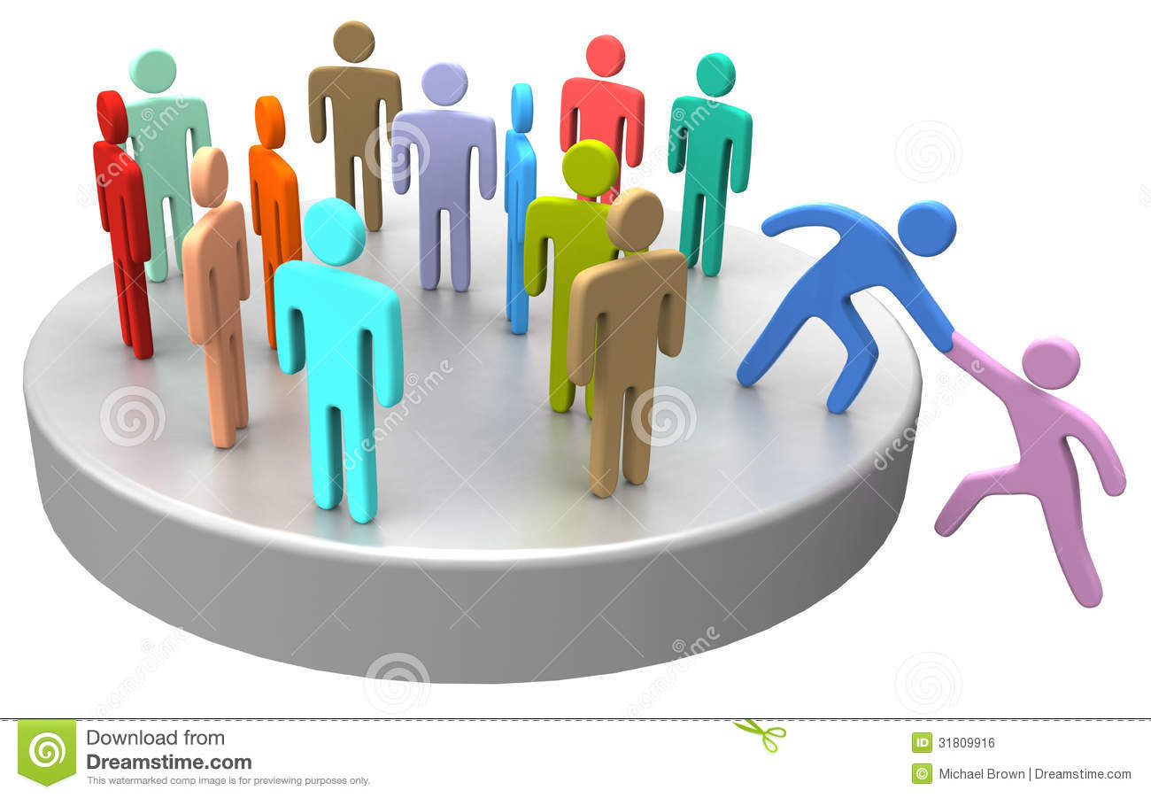 Help Join Up Social Business People Stock Illustration - Image: 31809916