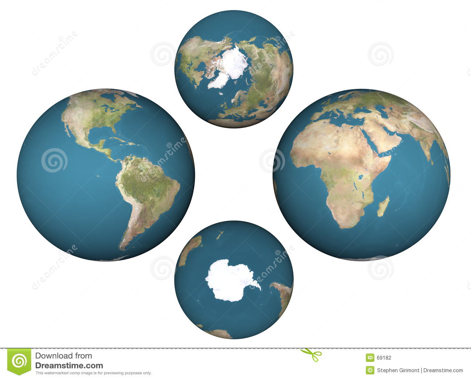 Hemisferios De La Tierra Fotografia De Archivo