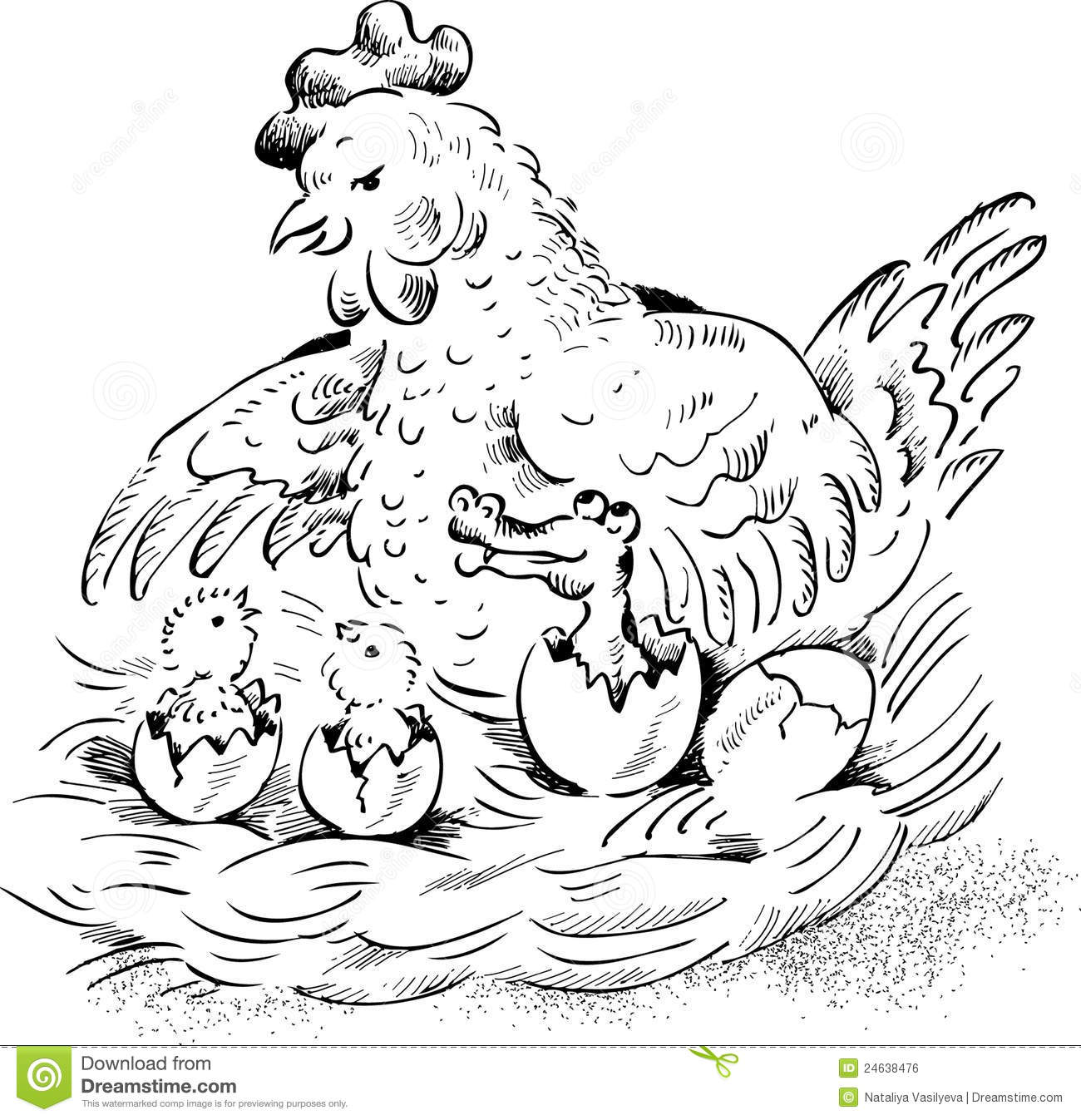 Pages Of Crocodile Lay Eggs Coloring Pages