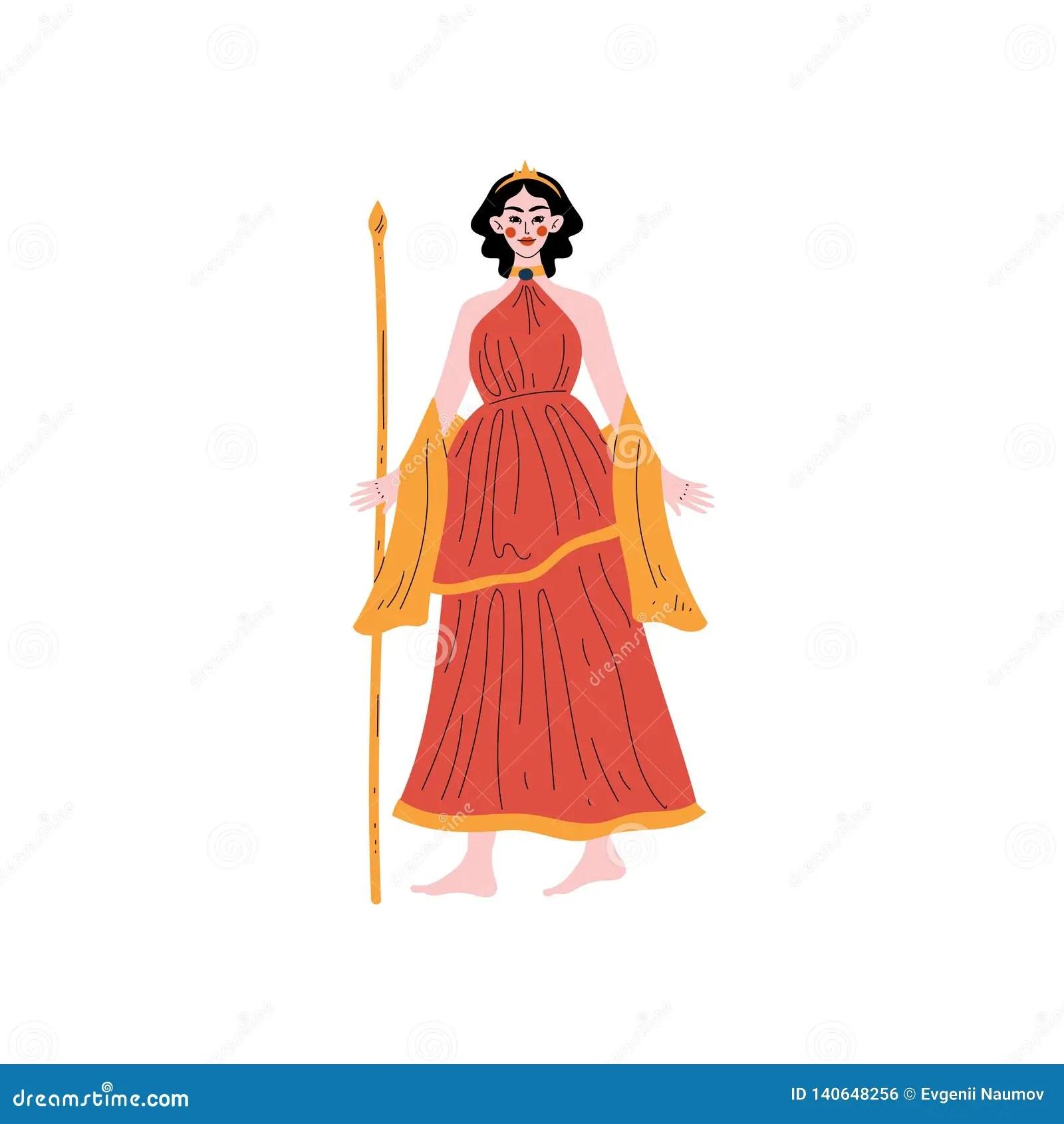 Hera Olympian Greek Goddess Ancient Greece Mythology Hero