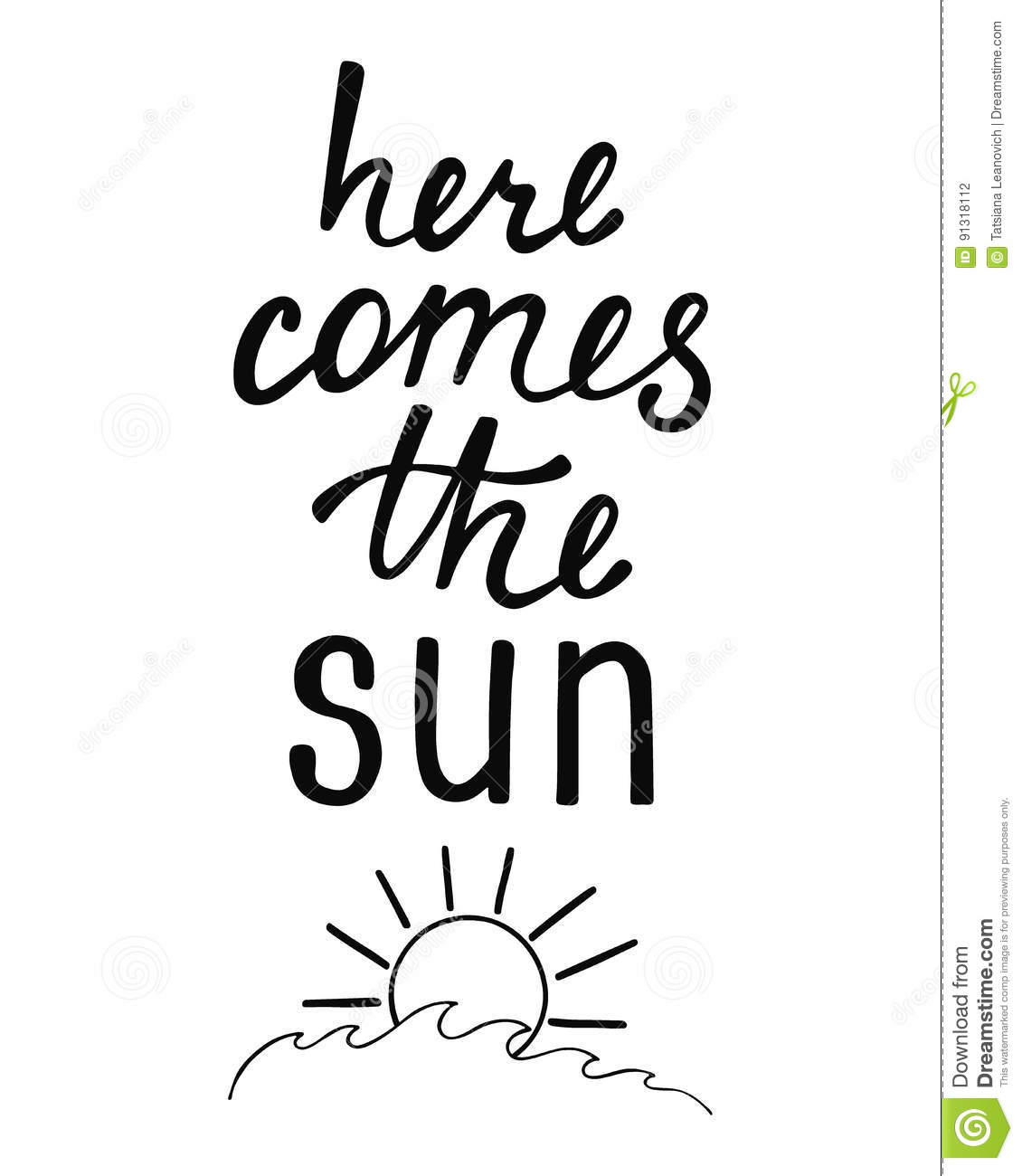 Here Comes The Sun Inspirational Quote About Summer