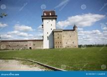 Hermann Castle In Narva - Estonia Stock