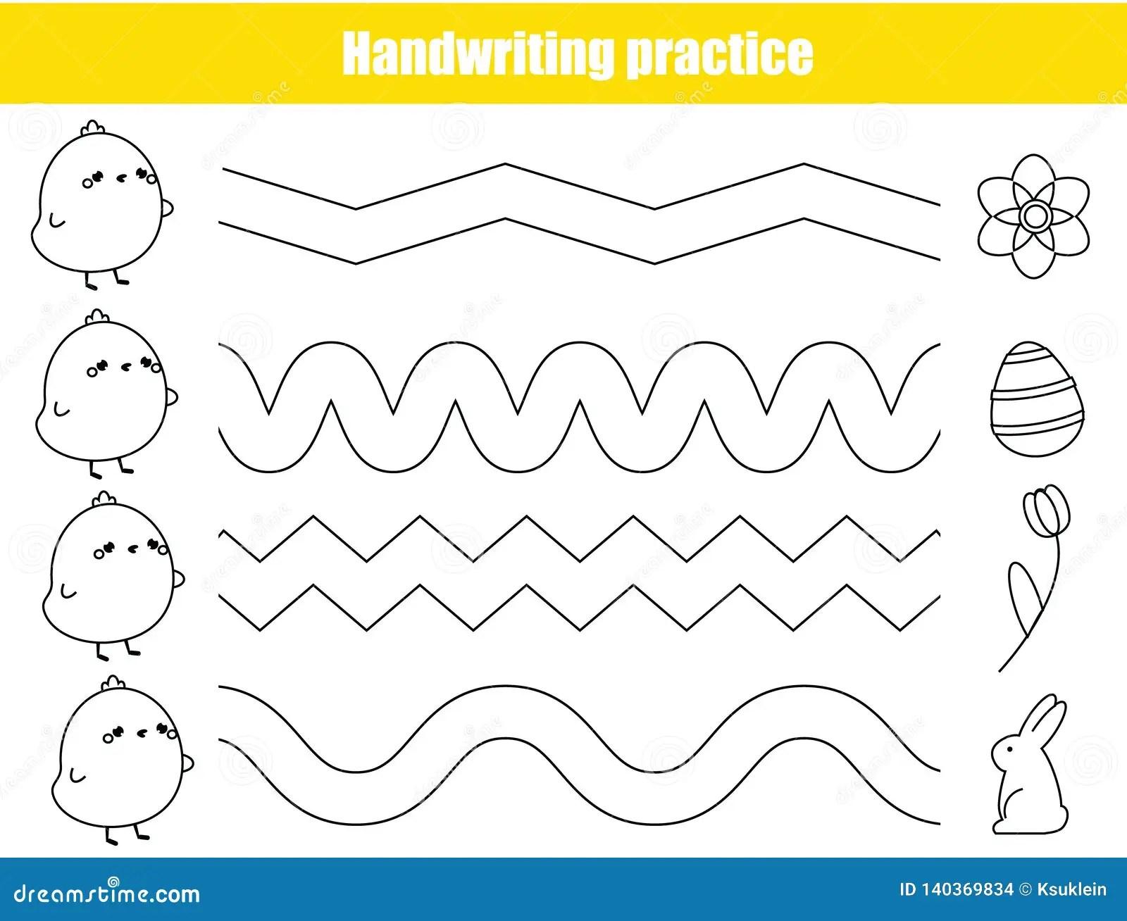 Het Blad Van De Handschriftpraktijk Onderwijskinderenspel
