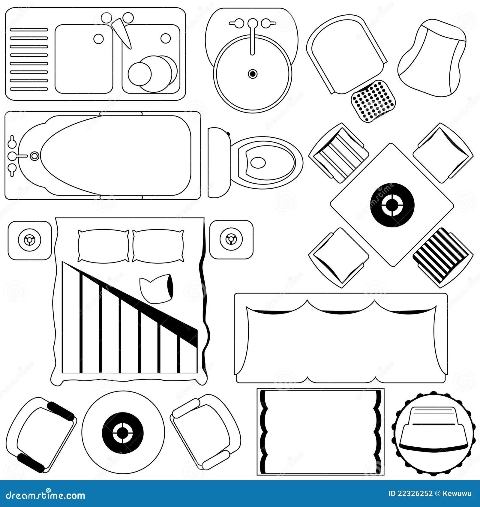 Het Eenvoudige Plan Van Het Meubilairvan De Vloer