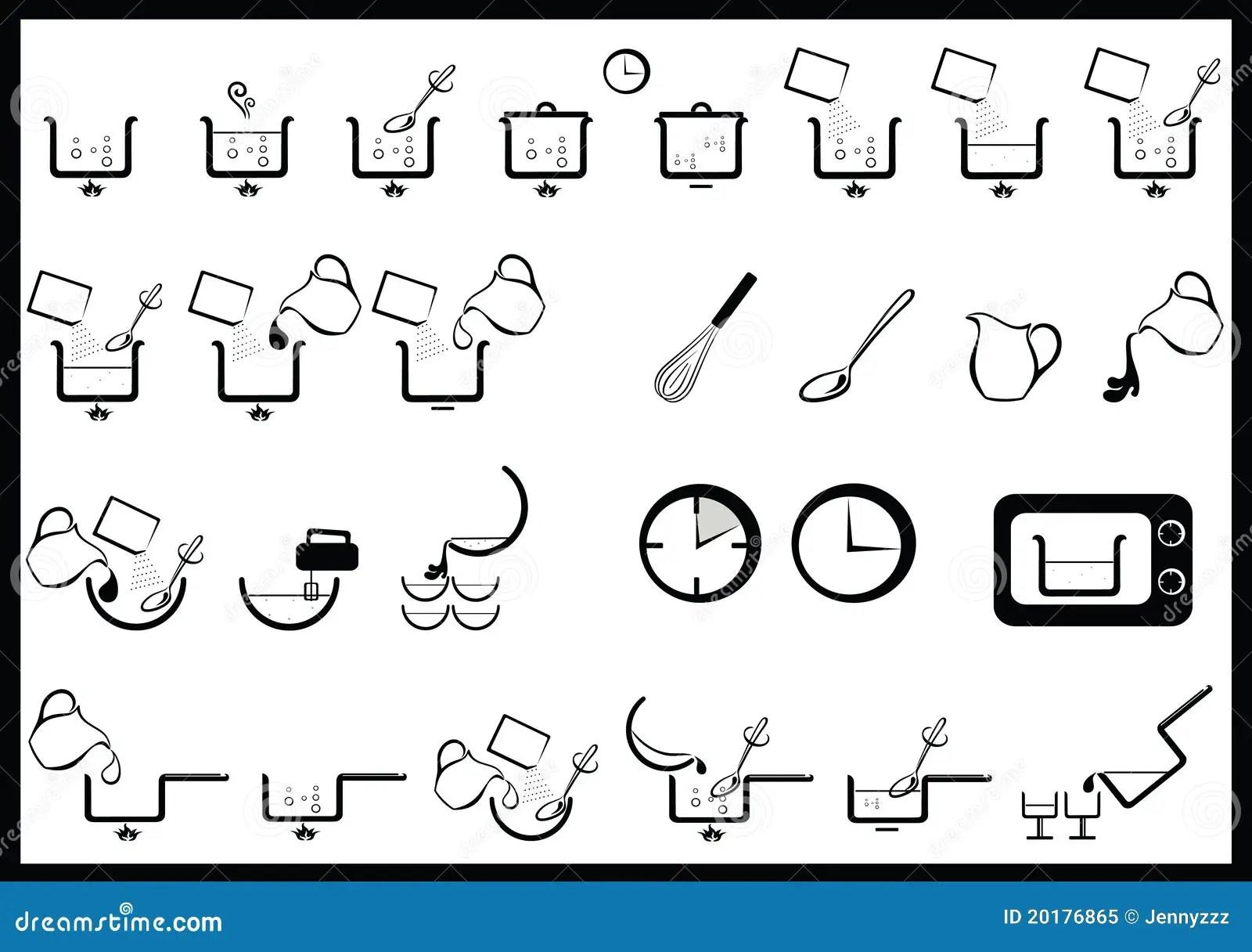 Het koken instructies vector illustratie. Illustratie