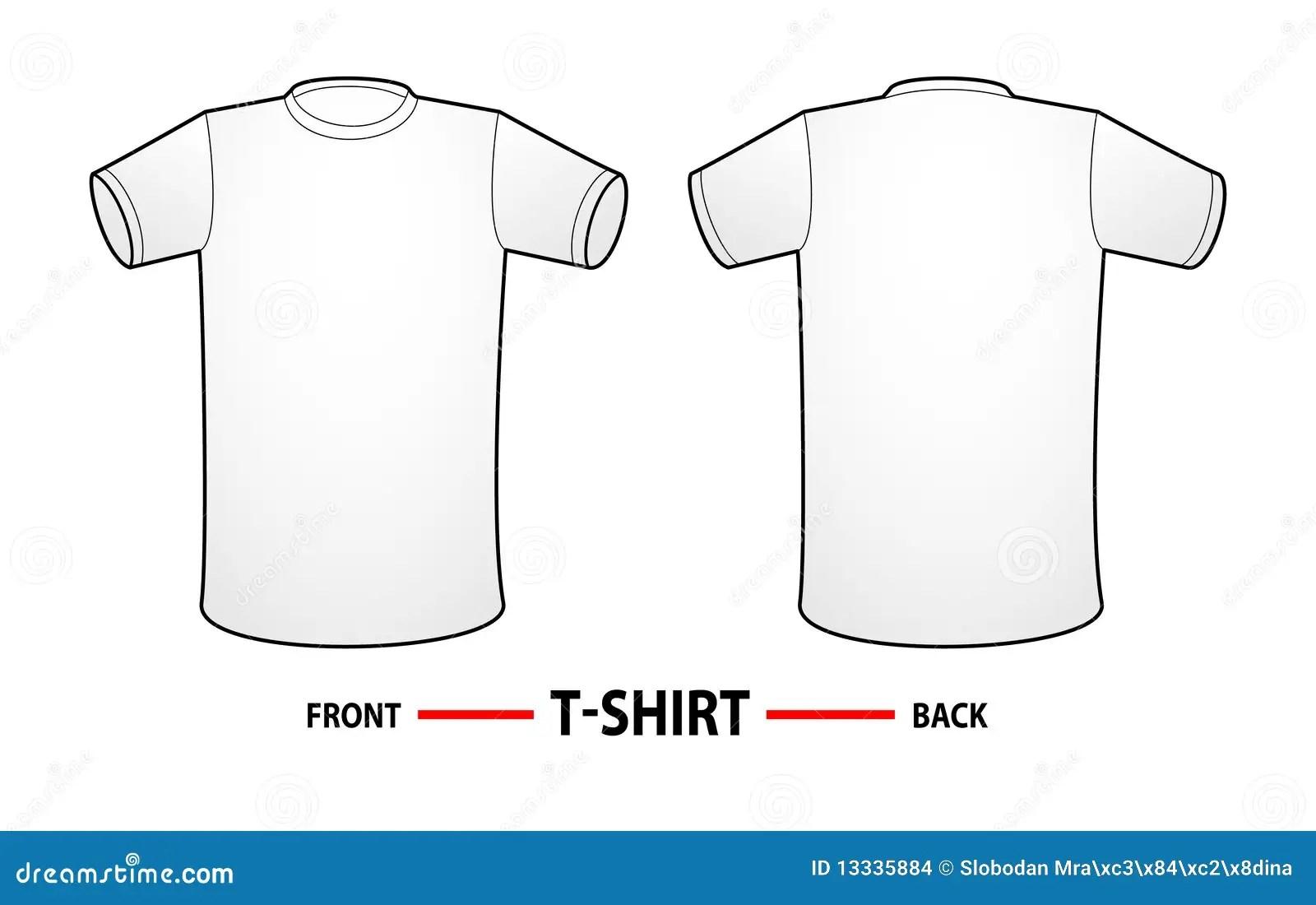 Het Lege Malplaatje Van De T Shirt Stock Illustratie
