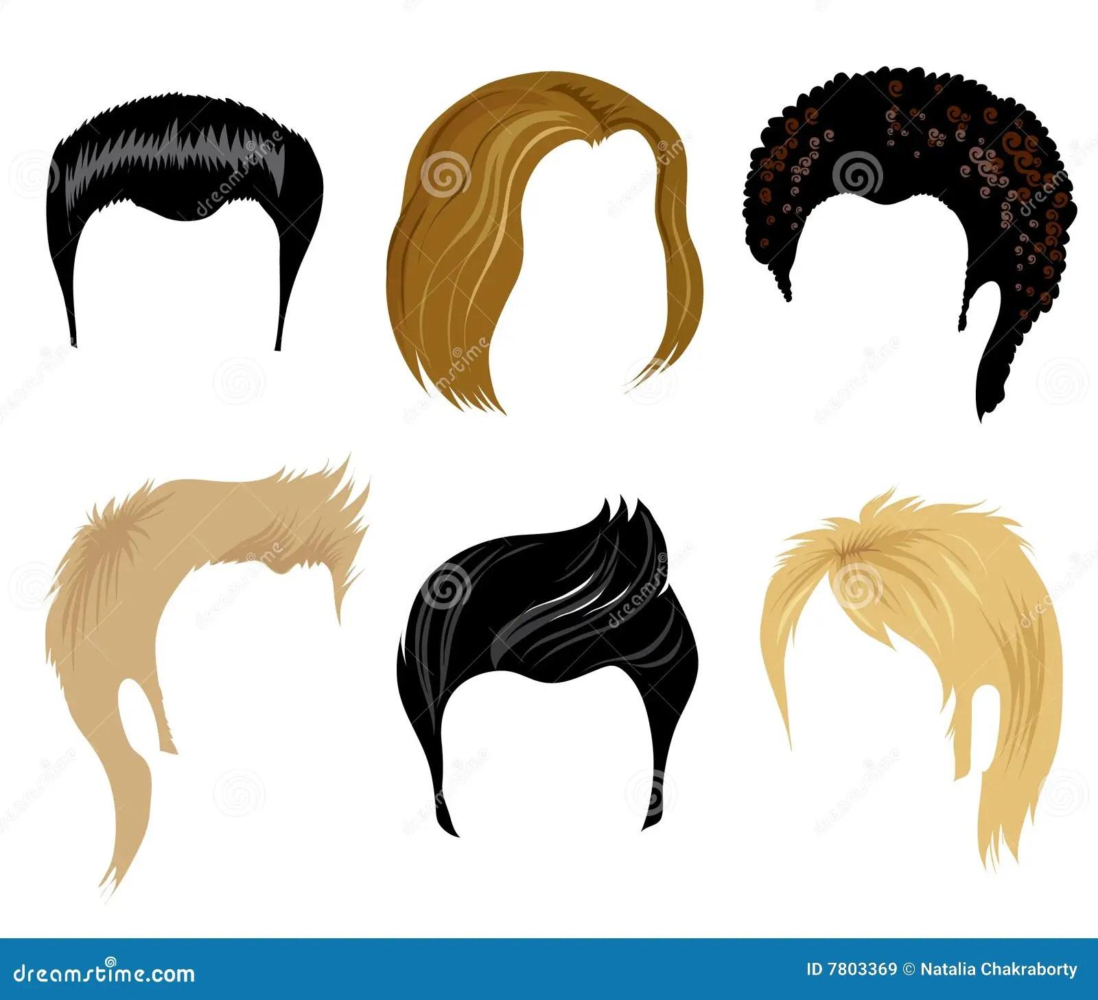 Het Stileren Van Het Haar Voor De Mens Vector Illustratie