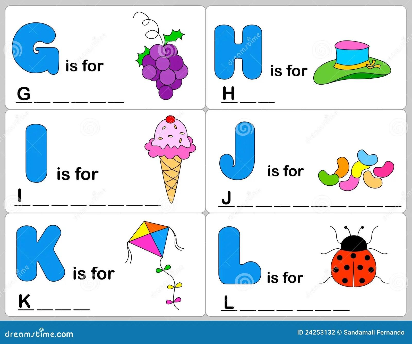 Het Woord Van Het Alfabet Vector Illustratie Illustratie