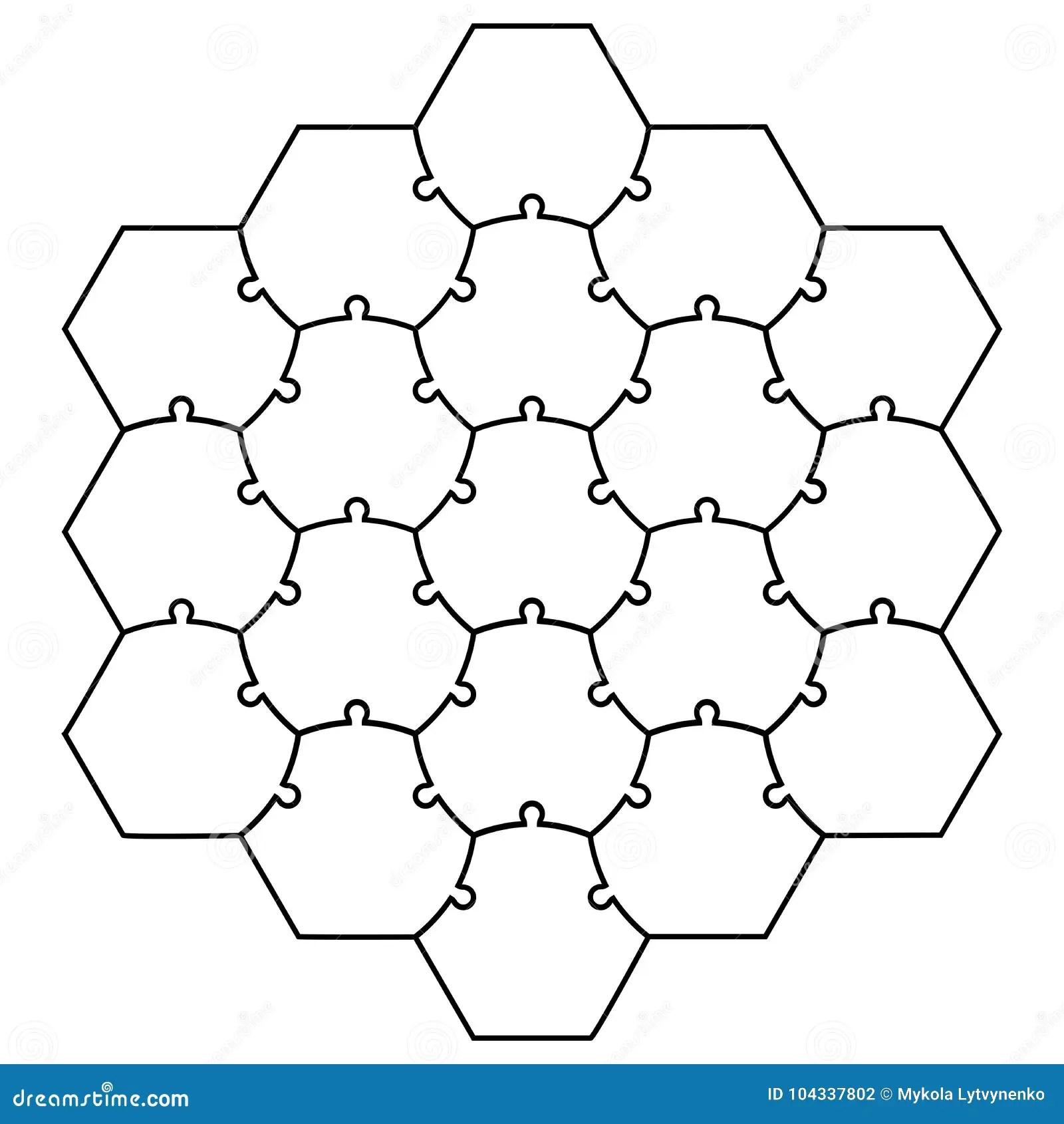 Hexagonal Board Game 3d Illustration Royalty-Free Cartoon