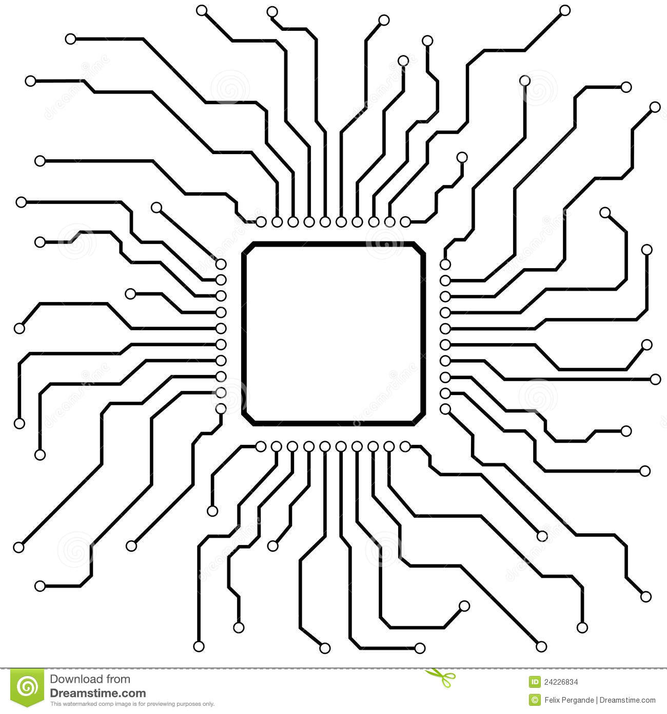 royalty image of blue circuit board