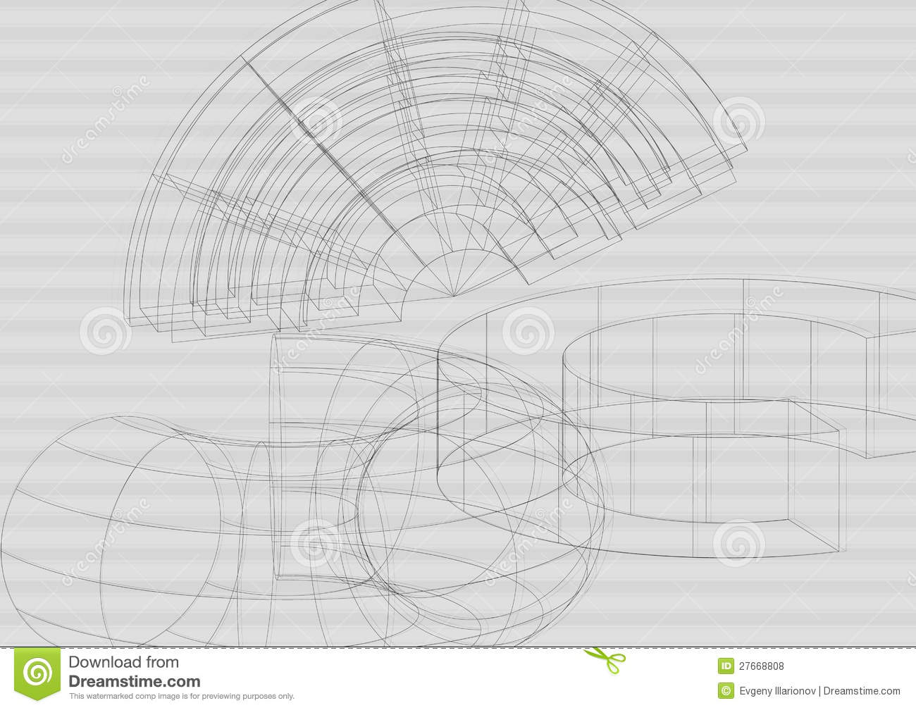 Hi Tech Engineering Background Vector Royalty Free Stock