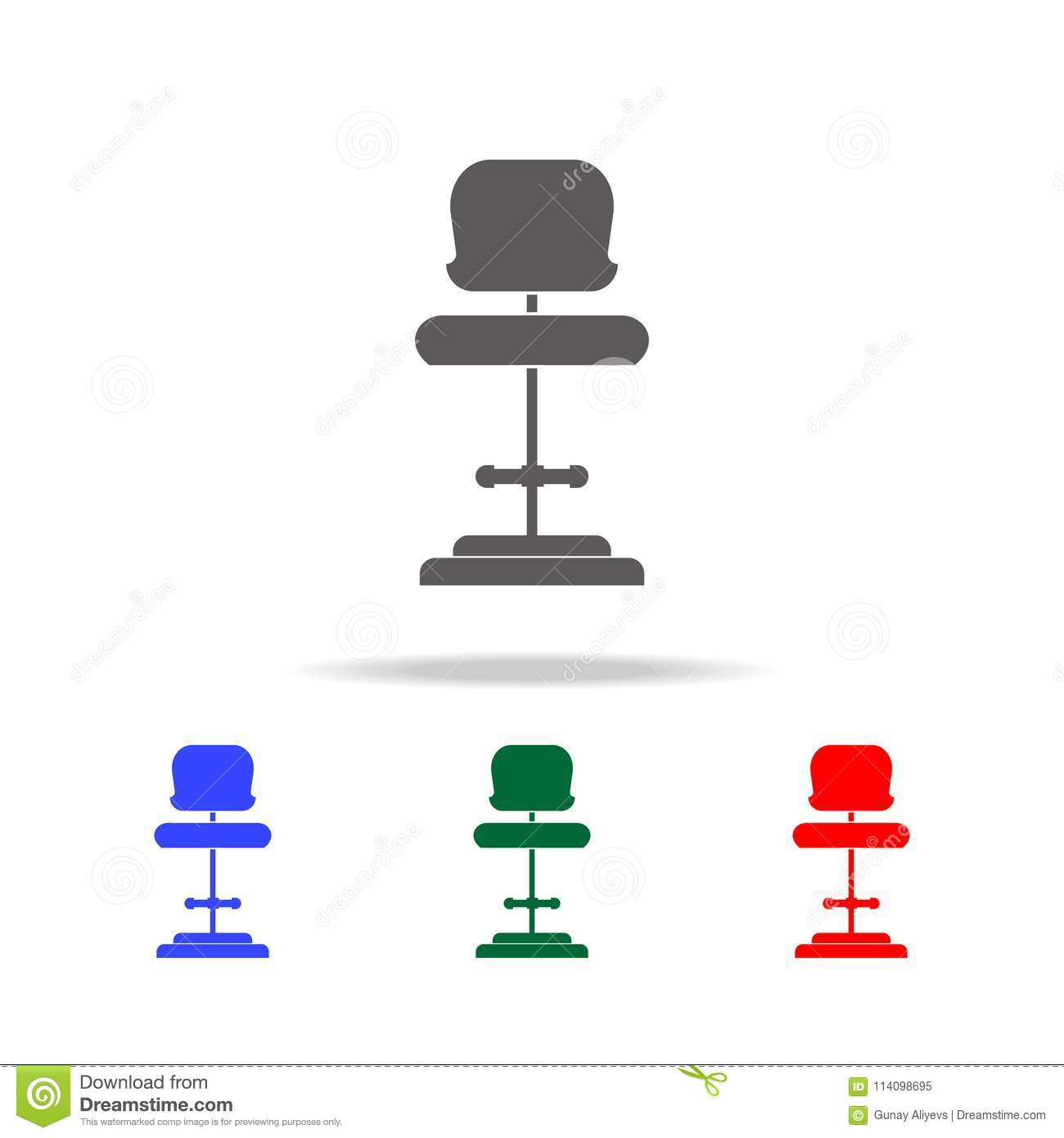 chair design icons cover hire bishop auckland high seat icon elements of disco and night life multi colored premium quality graphic simple for websites web