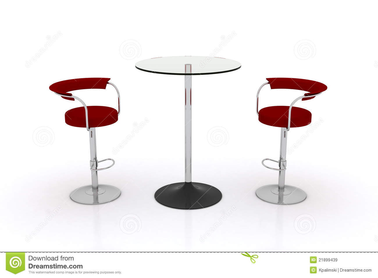 High Top Table And Chairs High Glass Top Table W Chairs Stock Illustration Image