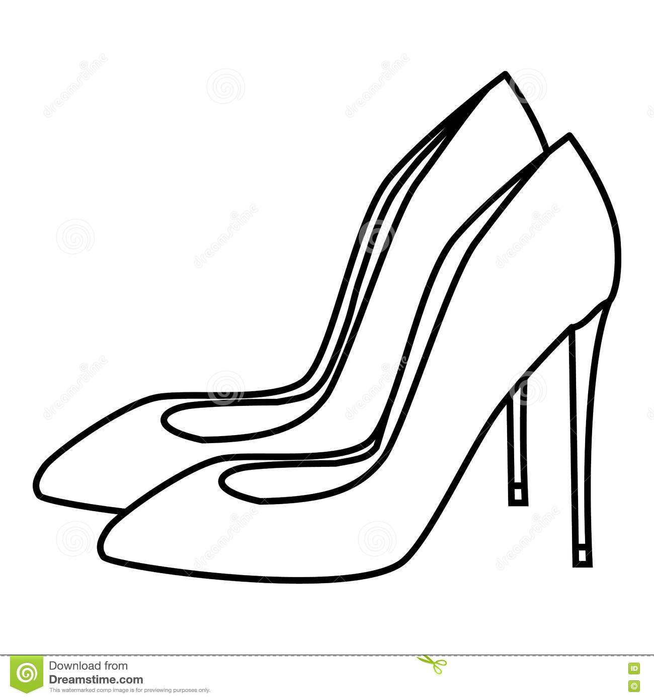 Short Heel Coloring Coloring Pages