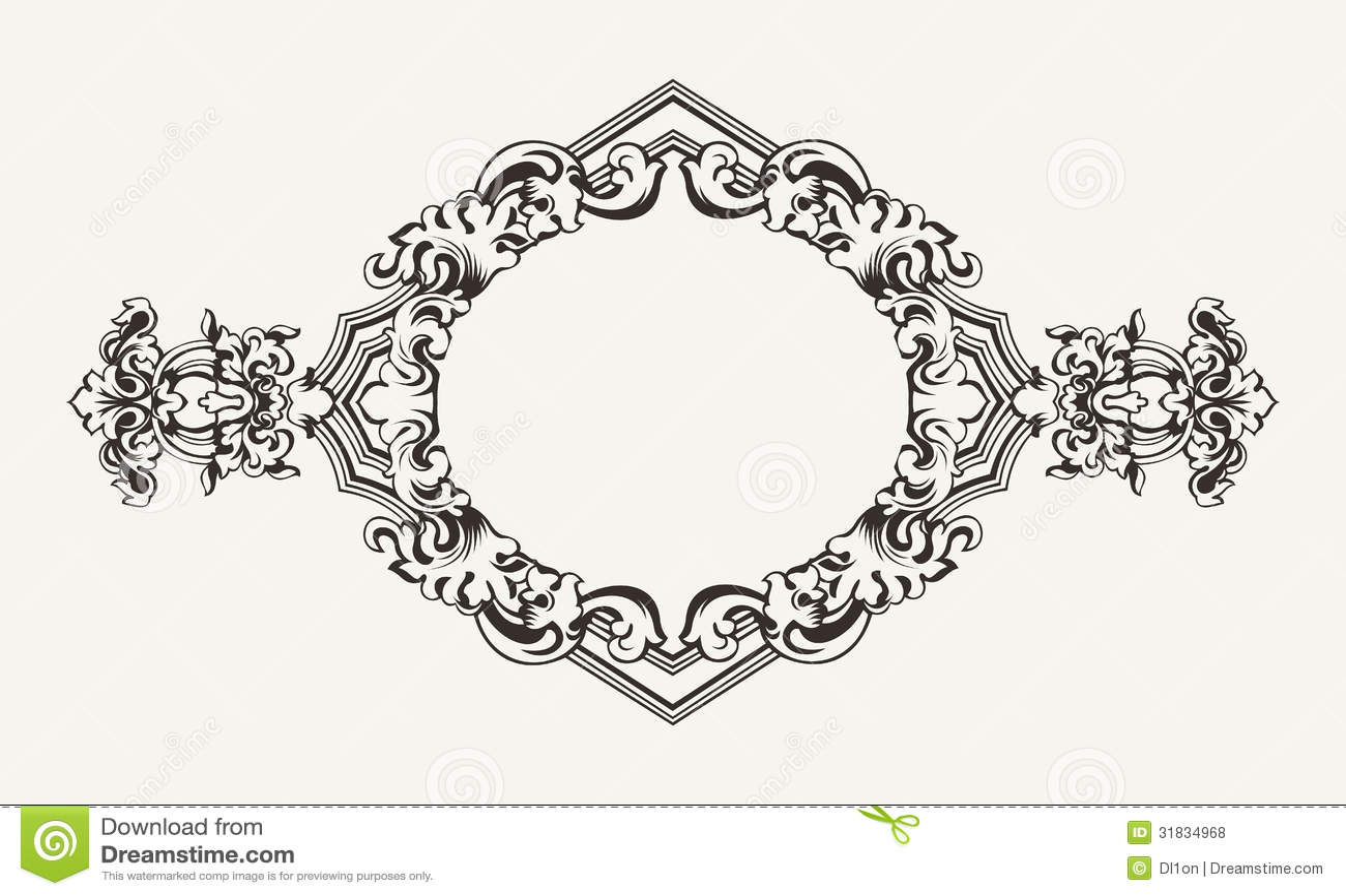 High Ornate Rhombus Frame Royalty Free Stock Photos