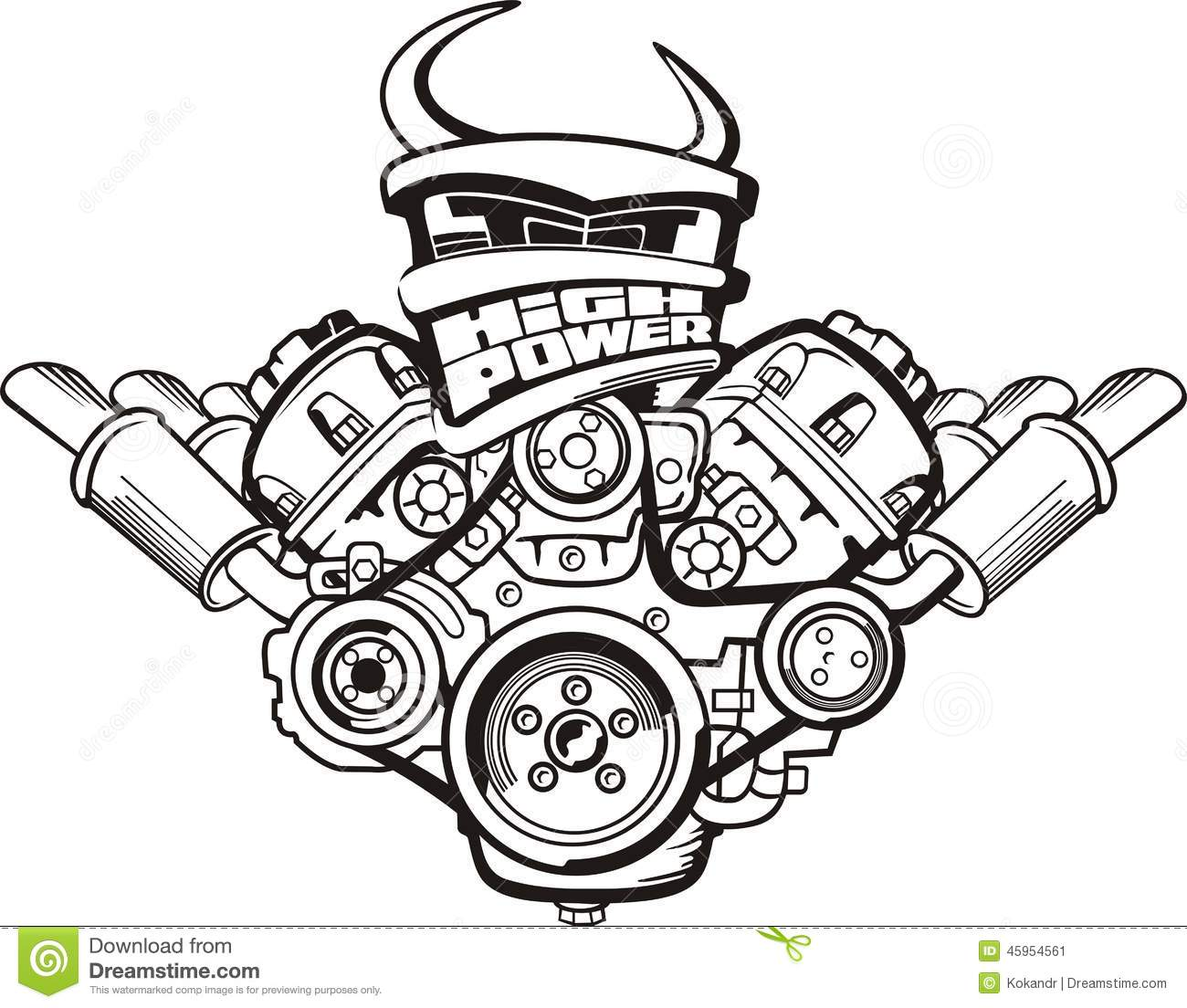 High Power Engine Stock Vector Illustration Of Wild