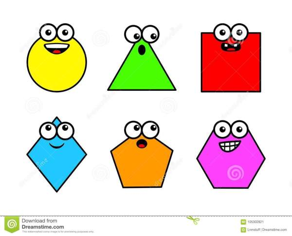 Geometry Shapes Clipart Isolated - Stock