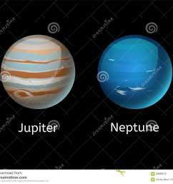 high quality jupiter galaxy astronomy neptune planet science globe cosmos star vector illustration  [ 1300 x 1130 Pixel ]