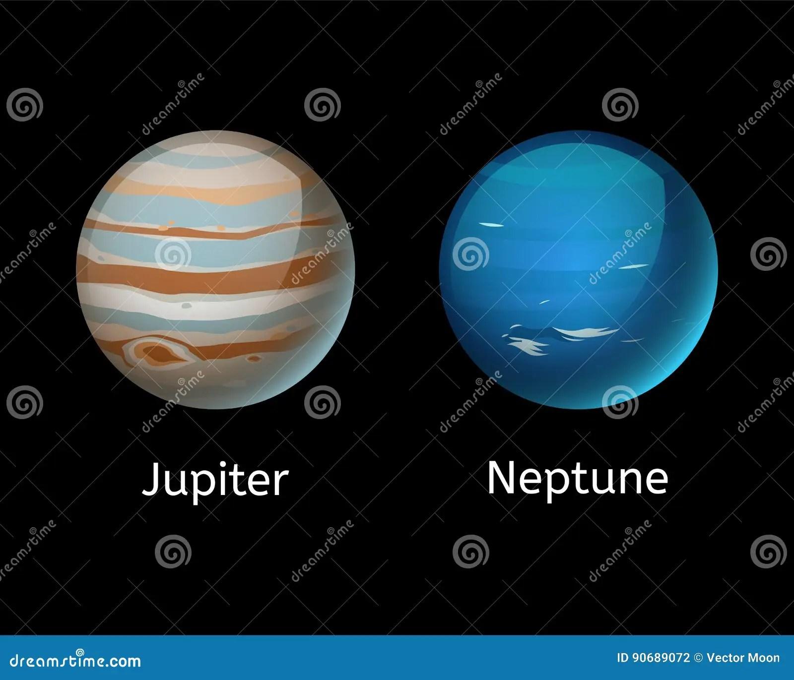 hight resolution of high quality jupiter galaxy astronomy neptune planet science globe cosmos star vector illustration