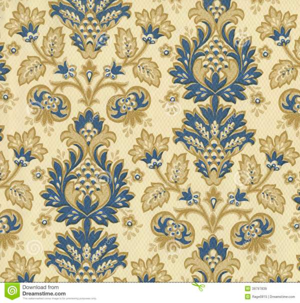 High Resolution Wallpaper With Floral Pattern Stock
