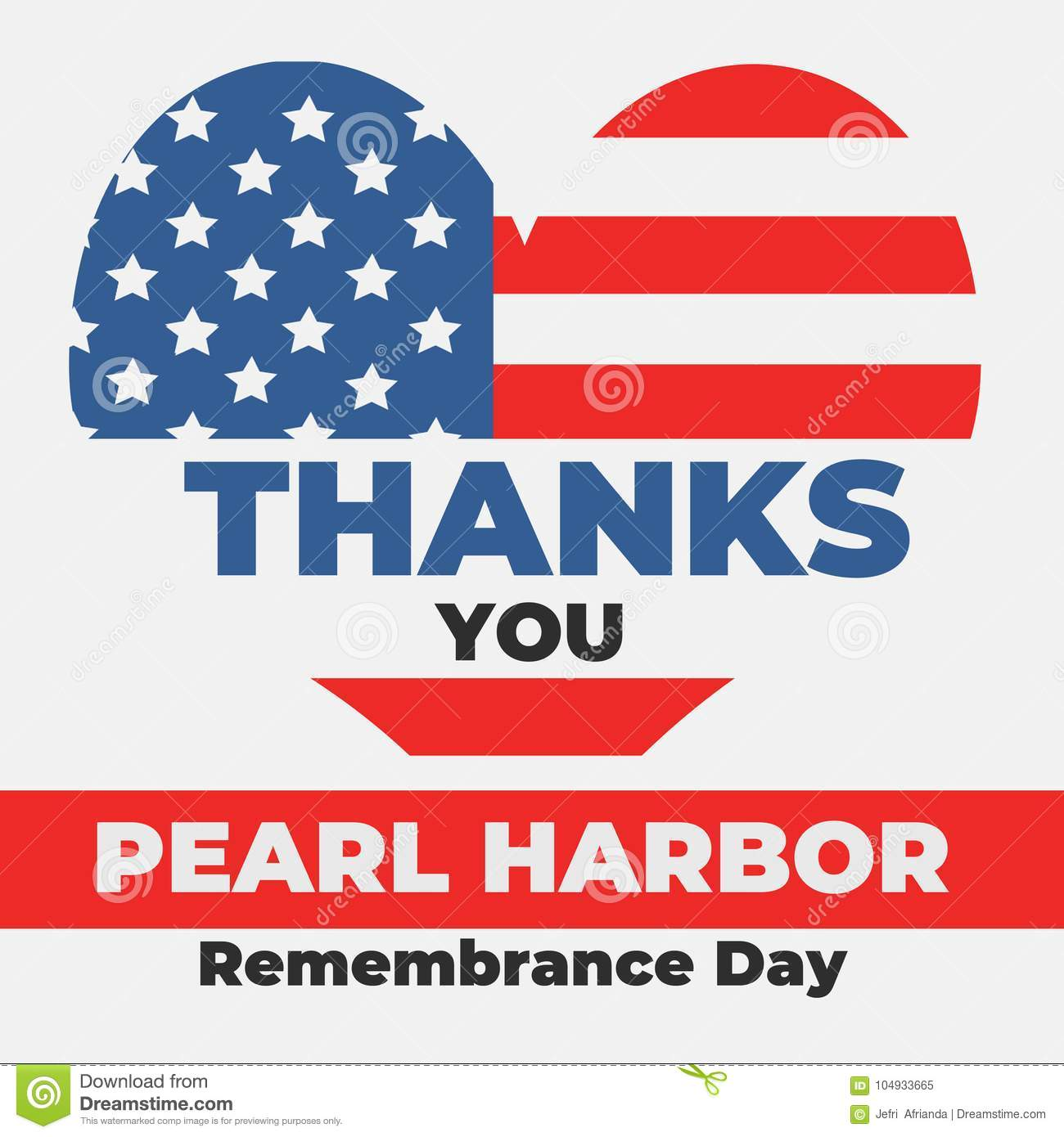 Pearl Harbor Remembrance Day 7 December Stock