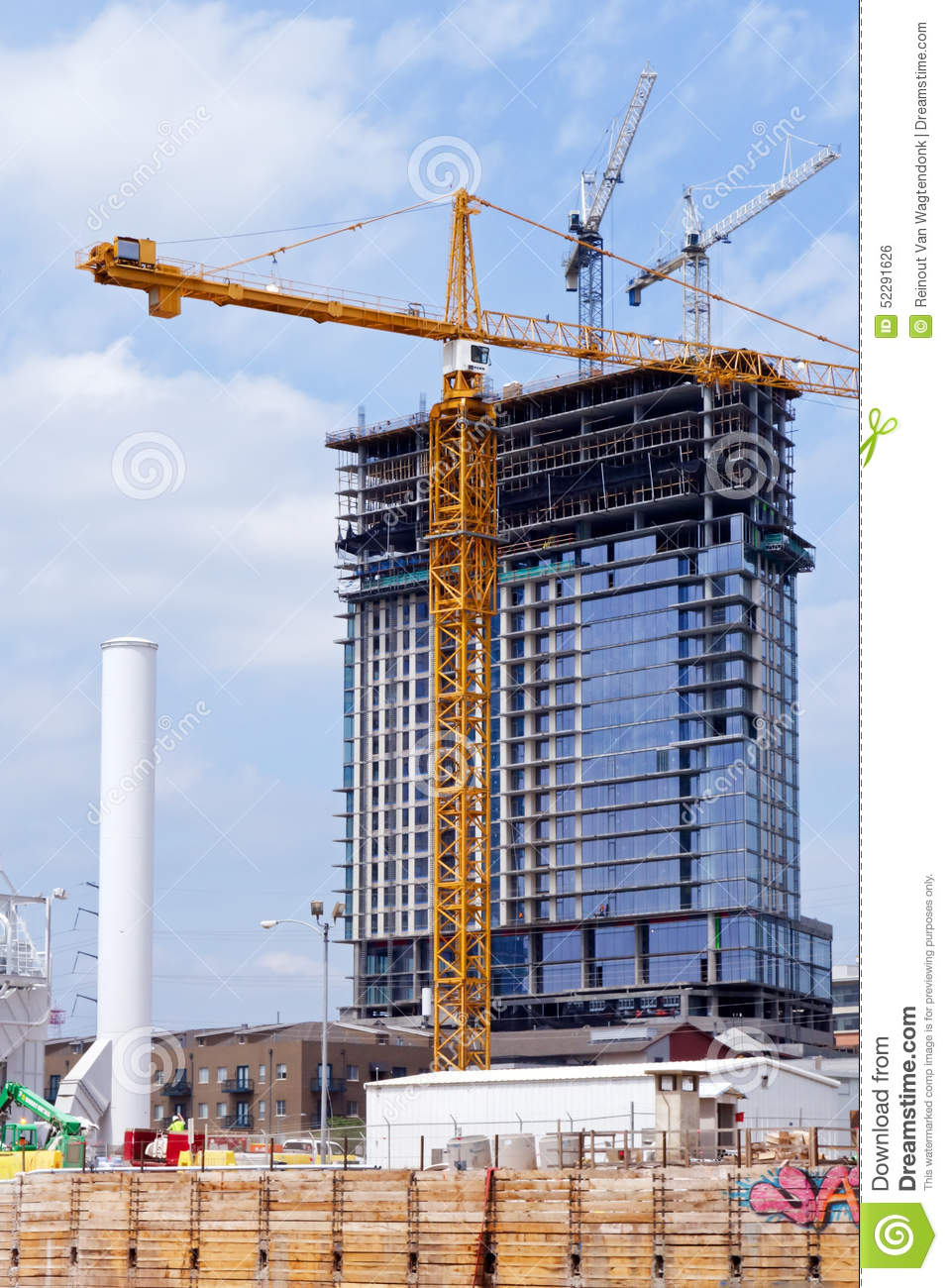 High Rise Construction Project Editorial Photo  Image