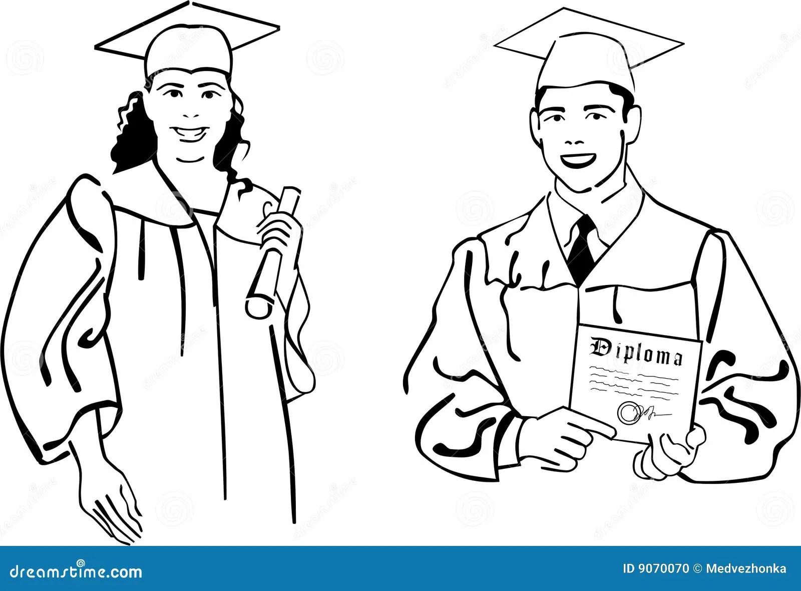High school graduation stock vector. Illustration of