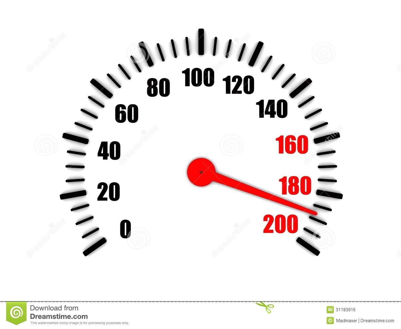High Speed On A Speedometer Royalty Free Stock Image