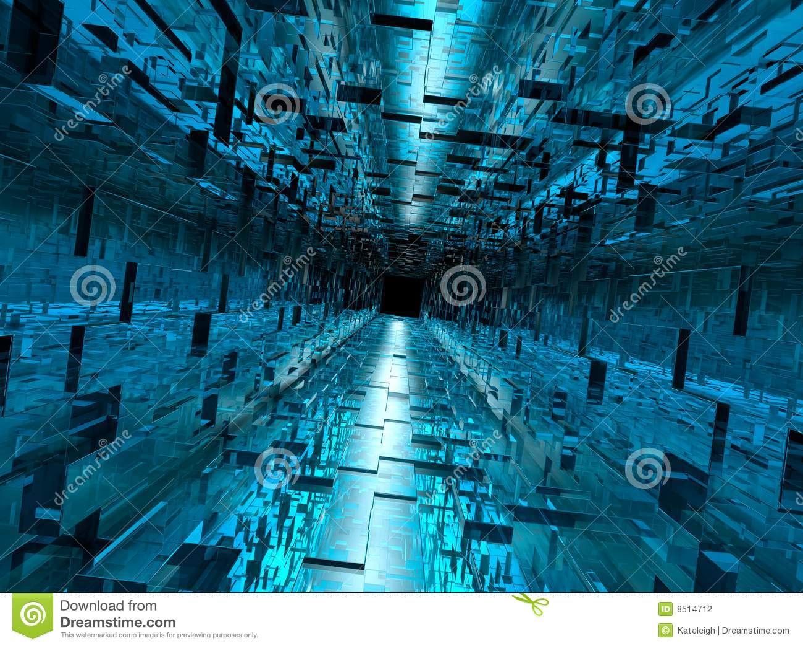 Download Wallpaper Hp 3d High Tech Hallway Stock Illustration Image Of Pattern