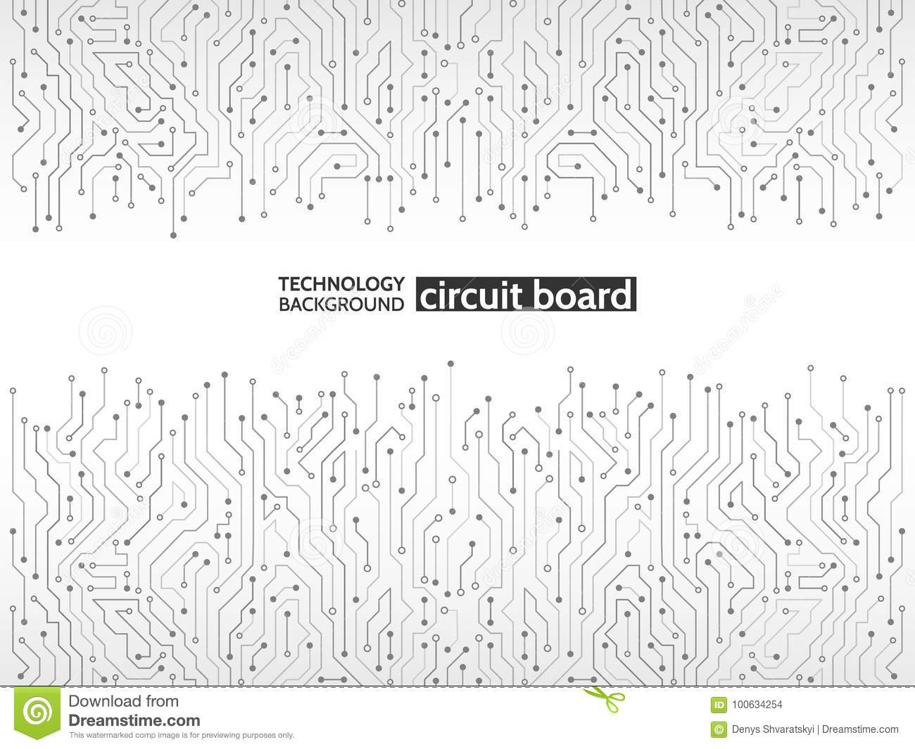 Circuit Board Vector Illustration Stock Vector