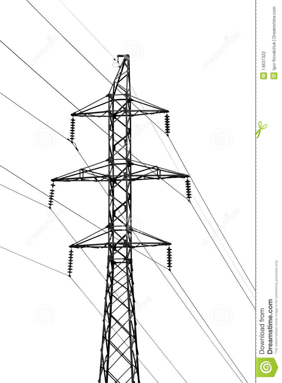 High-tension power line stock photo. Image of