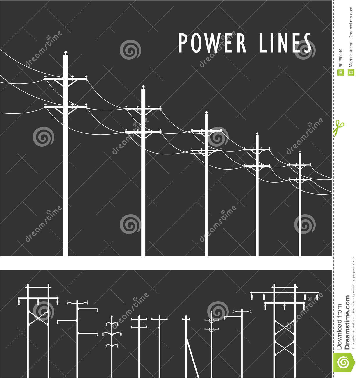 hight resolution of high voltage post