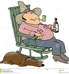 hillbilly and his dog this illustration depicts a hillbilly sitting in a rocking chair drinking [ 1300 x 1255 Pixel ]